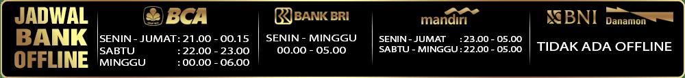 jadwal bank offline